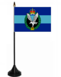 Army Air Corps Desk / Table Flag with plastic stand and base.